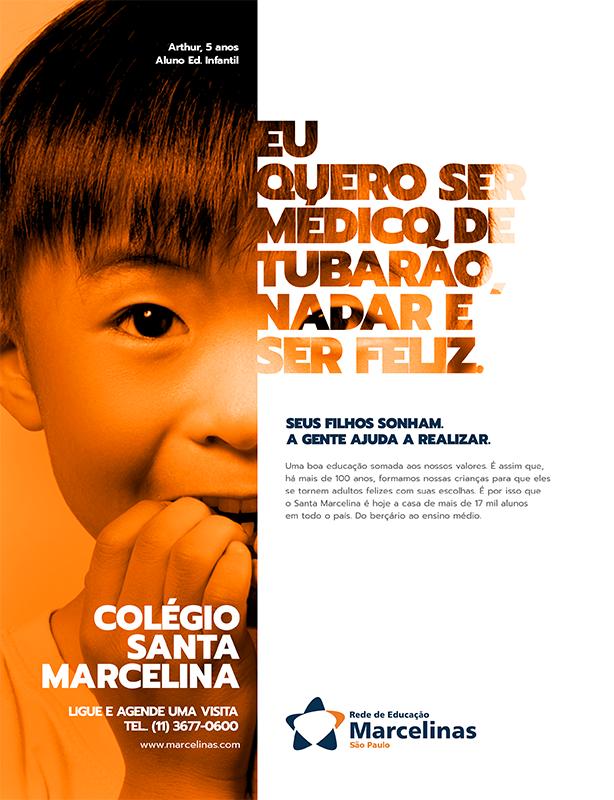 Campanha Sonhos / Rede de Educação Marcelinas, SP